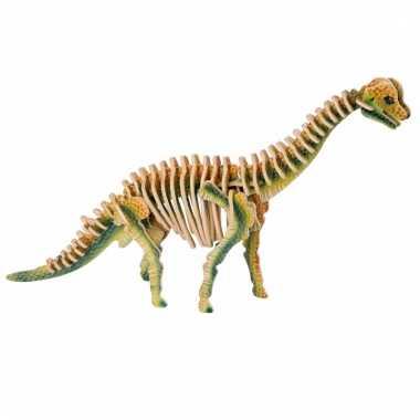 Houten brachiosaurus dino puzzel