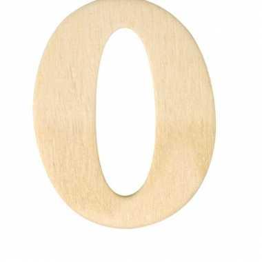 Houten cijfer 0