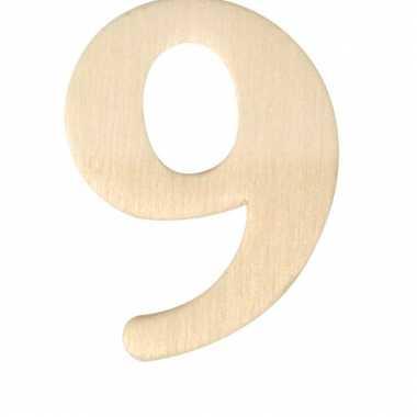 Houten cijfer 9