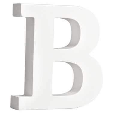 Houten decoratie letter b 11 cm