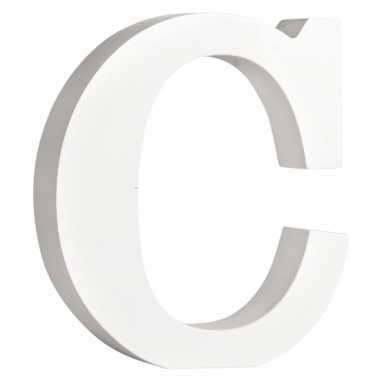 Houten decoratie letter c 11 cm
