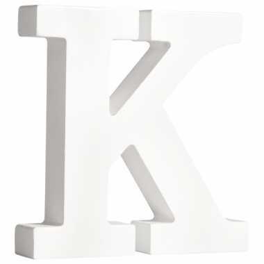 Houten decoratie letter k 11 cm