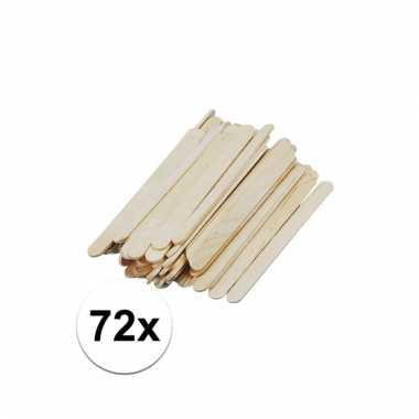 Houten knutsel stokjes 11 cm