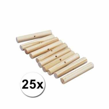 Houten knutselstokjes 47 mm 25 st