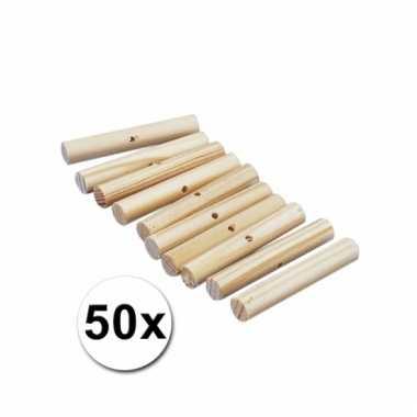 Houten knutselstokjes 47 mm 50 st