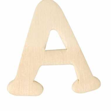 Houten naam letter a