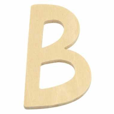 Houten naam letter b
