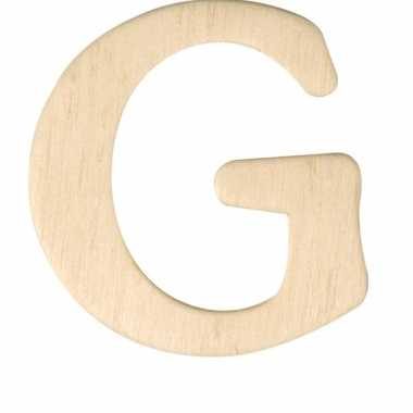 Houten naam letter g