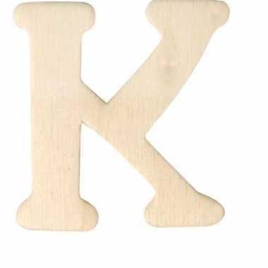 Houten naam letter k