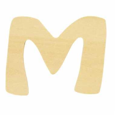 Houten naam letter m