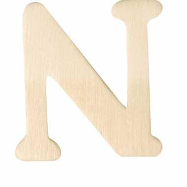 Houten naam letter n