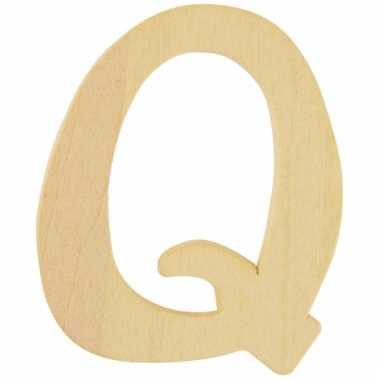 Houten naam letter q