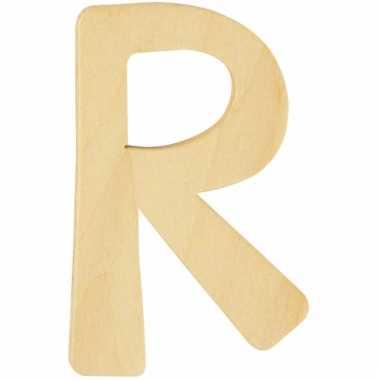 Houten naam letter r