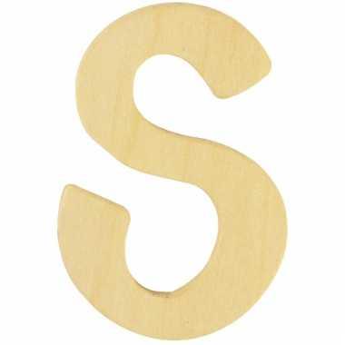 Houten naam letter s