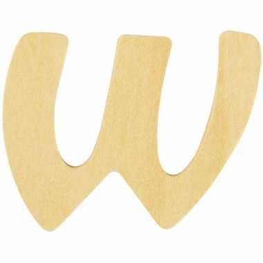 Houten naam letter w