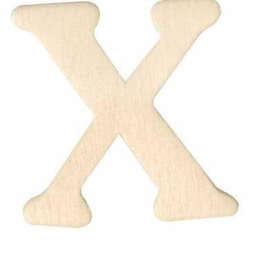 Houten naam letter x
