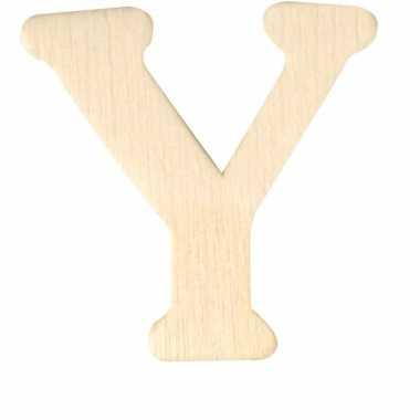 Houten naam letter y
