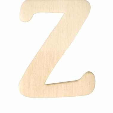 Houten naam letter z