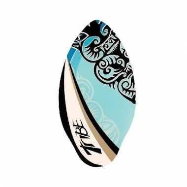 Houten skimboard blauw 100 cm