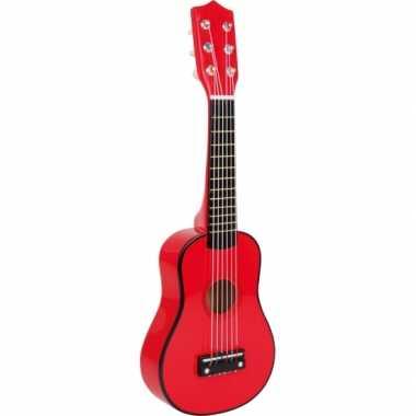 Houten speelgoed gitaar rood