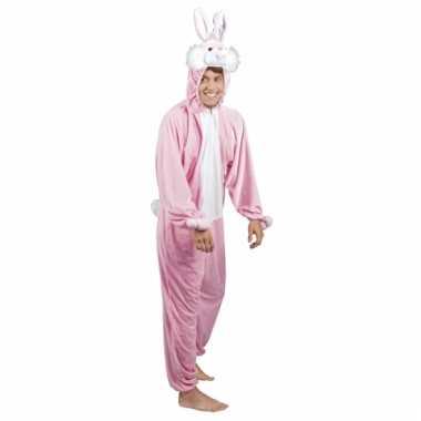 Huispak konijn/ haas roze voor heren