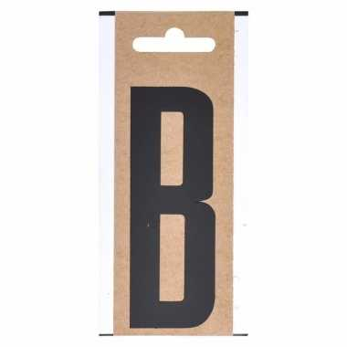 Huisvuil containersticker letter b 10 cm