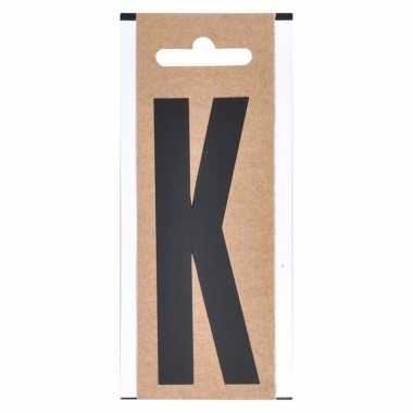 Huisvuil containersticker letter k 10 cm