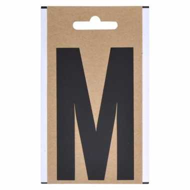 Huisvuil containersticker letter m 10 cm