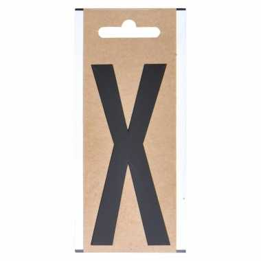 Huisvuil containersticker letter x 10 cm