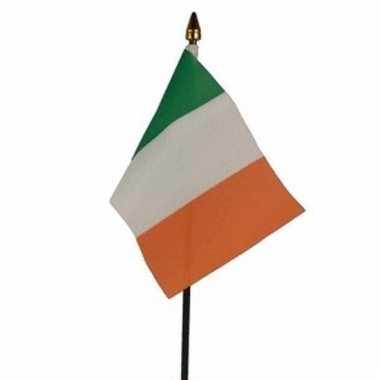 Ierland luxe zwaaivlaggetje polyester