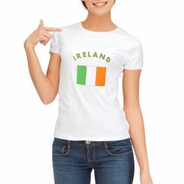 Ierse vlaggen t-shirt voor dames