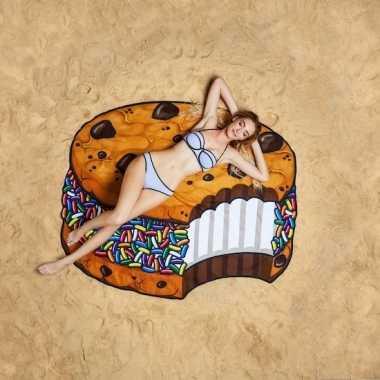 Ijswafel strandhanddoeken 150 cm