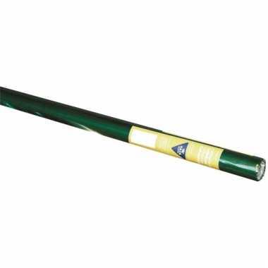 Inpakfolie kerst groen/goud 80 cm