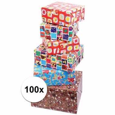 Inpakpapier set sinterklaas 100 stuks