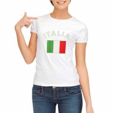 Italiaanse vlaggen t-shirt voor dames