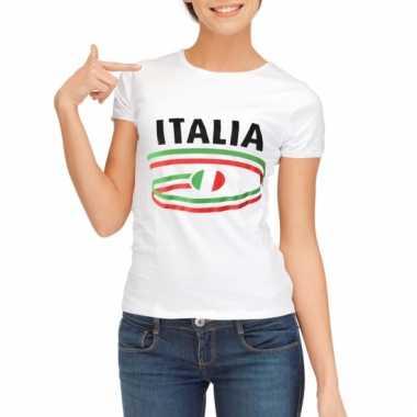 Italiaanse vlaggen t-shirts voor dames
