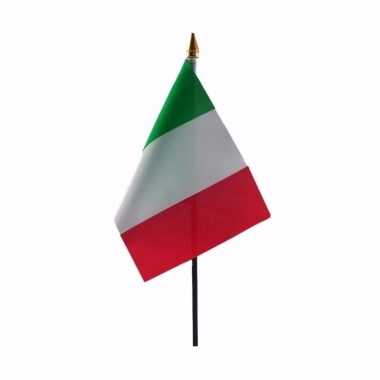 Italie luxe zwaaivlaggetje polyester