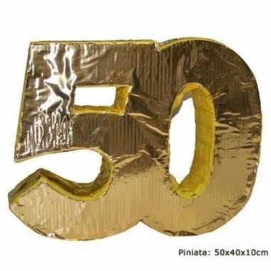 Jubileum pinata 50 goud