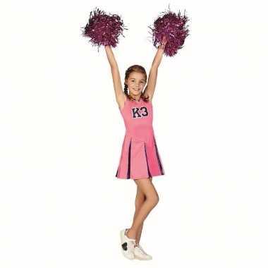 K3 cheerleader verkleedjurk met pompoms