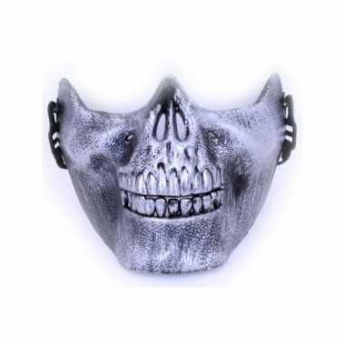 Kaakmasker zilveren schedel