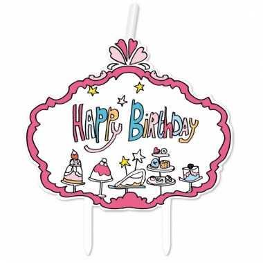Kaarsje voor verjaardagstaart jill