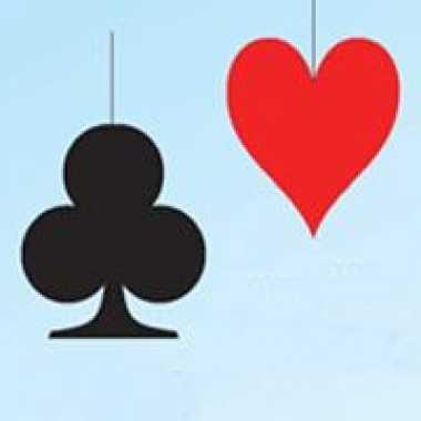 Kaartspel hangdecoratie harten