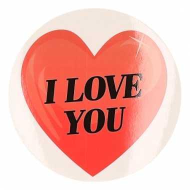 Kadosticker hart i love you 9 cm