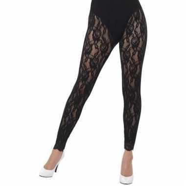 Kanten panty zwart voor dames