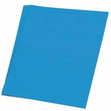 Karton blauw 48x68 cm