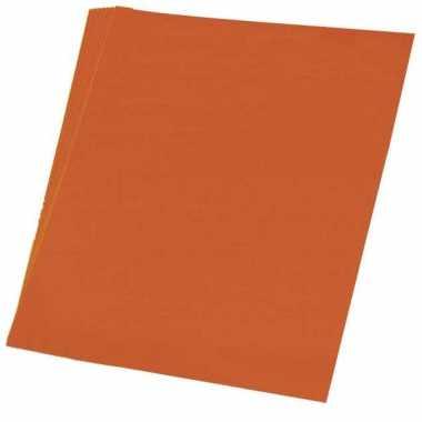 Karton oranje 48x68 cm