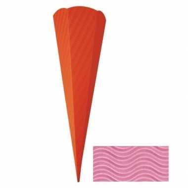 Kartonnen schoolzak roze 68 cm