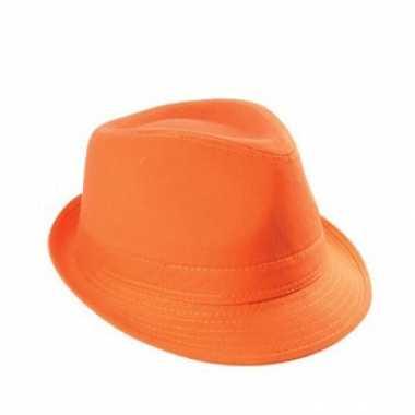 Katoenen hoedje oranje