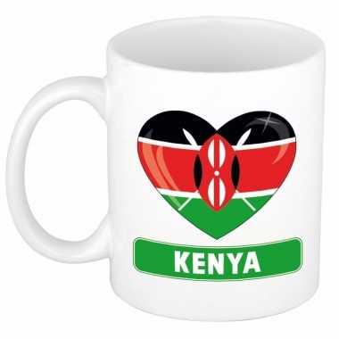 Keniaanse vlag hart mok / beker 300 ml