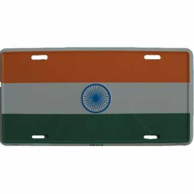 Kentekenbordje india